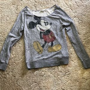 Heathered grey Mickey Mouse shirt -fits L/XL